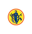 Fireman Firefighter Fire Hose Ladder Circle vector image vector image