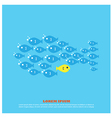 fish for business vector image vector image