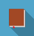 Flat design modern of book icon with long shadow vector image vector image