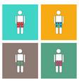 flat icon design collection man in underwear cloth vector image vector image