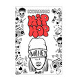 flyer poster rap battle concert hip-hop music vector image vector image