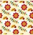 folk mexican seamless pattern vector image