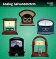 galvanometer icon set vector image vector image