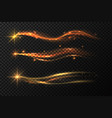 golden star trail magic gold stardust with vector image vector image