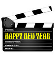 happy new year clapper vector image vector image