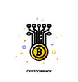 icon of abstract cryptocurrency coin for money vector image vector image