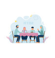 iftar eating after fasting feast party concept vector image vector image