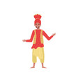 indian bearded man in a turban and traditional vector image vector image