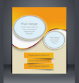 layout flyer business brochure flyer template vector image vector image