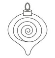 line art black and white christmas tree decoration vector image vector image