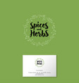 logo spice herbs vector image vector image
