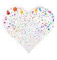 medical symbols fireworks heart vector image vector image