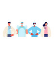 medical team together healthcare workers doctor vector image