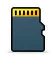 memory card icon design vector image vector image