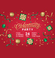 merry christmas party horizontal poster vector image vector image