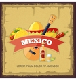 Mexican logo and badge design vector image