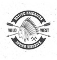 native american indian warrior concept vector image