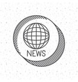 news with planet sphere design vector image vector image