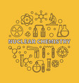 nuclear chemistry round in vector image vector image