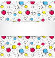 pop art colorful confetti background big colored vector image