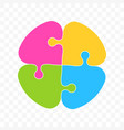 puzzle colors art icon vector image