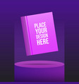 round podium mockup with book and place for your vector image vector image