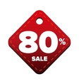 Sale eighty percent pricetag red vector image vector image