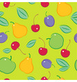 seamless fruit berries pattern vector image vector image