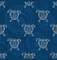seamless pattern turtles silhouette australian