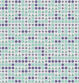 seamless pattern with squares circles triangles vector image