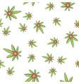seamless texture medical marijuana one vector image vector image