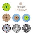 Sepak Takraw or Kick Volleyball Ball vector image vector image