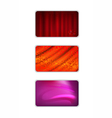 Set abstract red tones drapery background vector image