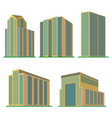 set of five modern high-rise building vector image vector image