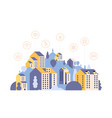 smart city country landscape with houses vector image vector image