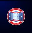 sport emblem typography super girl hero logotype vector image vector image