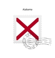 State of Alabama flag postage stamp vector image vector image