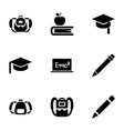 student icons vector image vector image