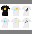 t-shirt templates vector image vector image