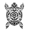 Turtle tattoo shape vector image vector image