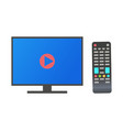 tv monitor plasma with high definition television vector image vector image