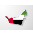 United Arab Emirates map with shadow effect vector image vector image