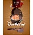 Vintage BBQ poster vector image vector image