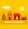 welcome to vietnam background flat style vector image vector image