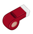 whistle isolated vector image