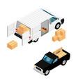 white minivan cargo delivery van deliver vector image vector image