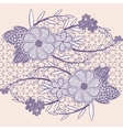 Wide seamless lace ribbon with flowers vector image vector image