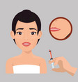 woman with botox treatment vector image