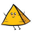yellow pyramid or color vector image vector image