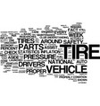 your tire counts text background word cloud vector image vector image